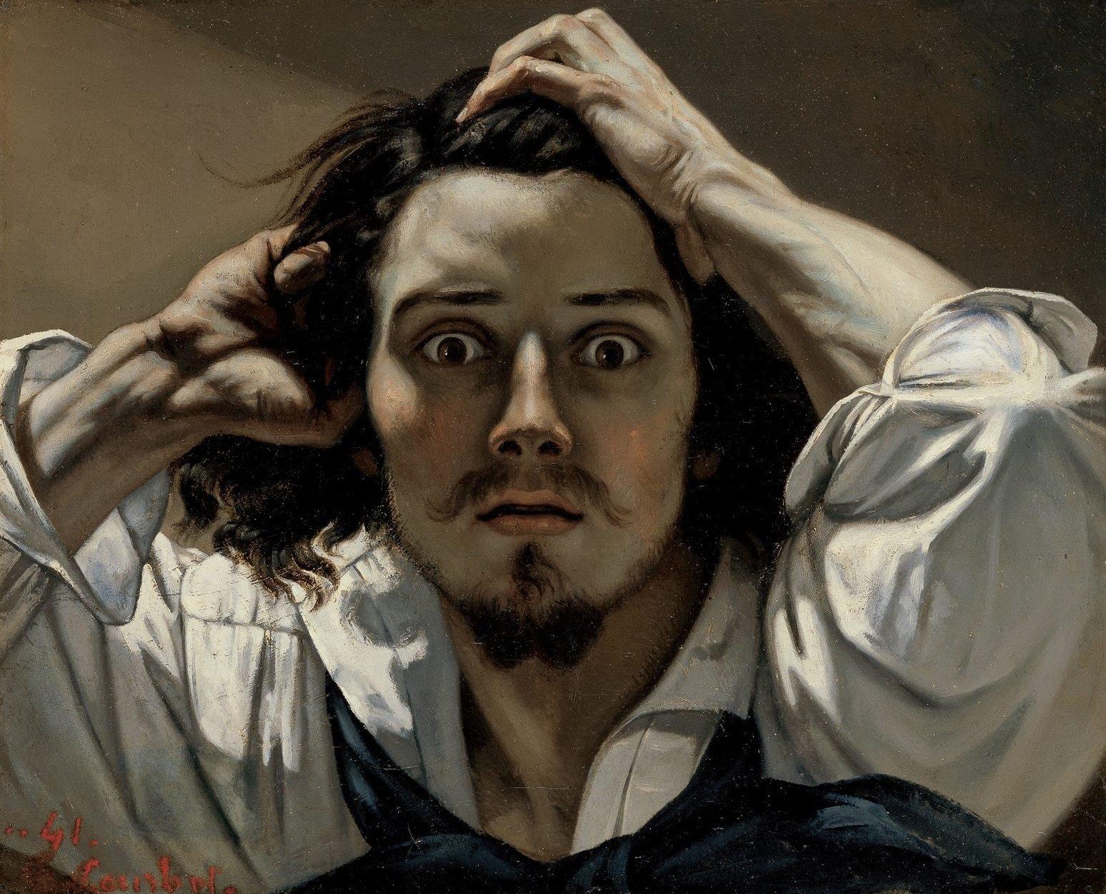 Introduction dans L'affaire Courbet gustave-courbet-autoportrait-desespere
